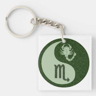 Scorpio Yin Yang Keychain