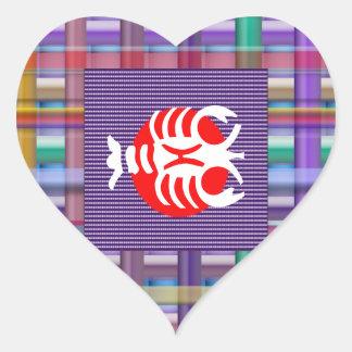 SCORPIO Zodiac Astrology Jyotish Symbols Heart Sticker