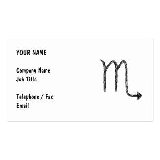 Scorpio. Zodiac Astrology Sign. Black. Business Cards