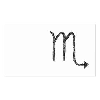 Scorpio. Zodiac Astrology Sign. Black. Business Card Templates