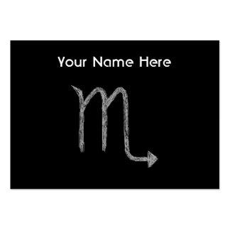 Scorpio. Zodiac Astrology Sign. Black. Business Card Template
