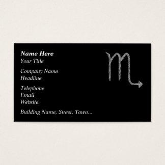 Scorpio. Zodiac Astrology Sign. Black. Business Card