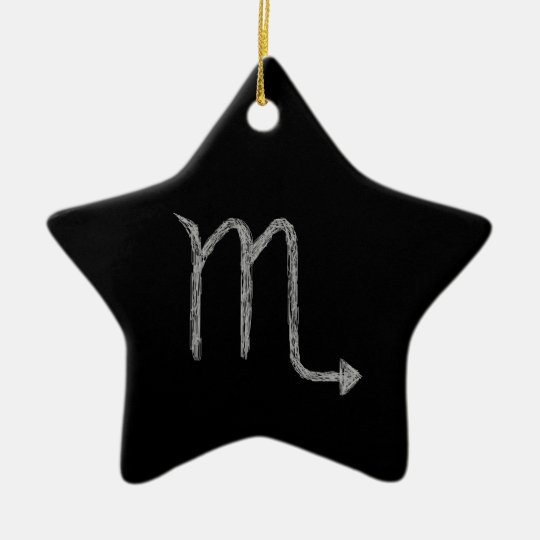 Scorpio. Zodiac Astrology Sign. Black. Ceramic Ornament