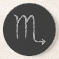 Scorpio. Zodiac Astrology Sign. Black. Drink Coaster at Zazzle