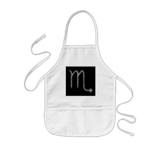 Scorpio. Zodiac Astrology Sign. Black. Kids' Apron