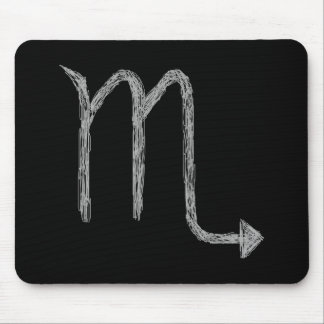 Scorpio. Zodiac Astrology Sign. Black. Mousepad