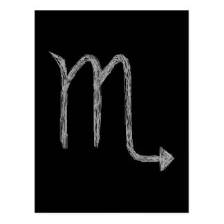 Scorpio Zodiac Astrology Sign Black Postcard