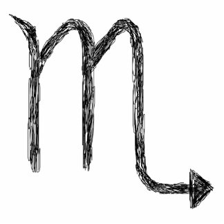 Scorpio. Zodiac Astrology Sign. Black. Statuette