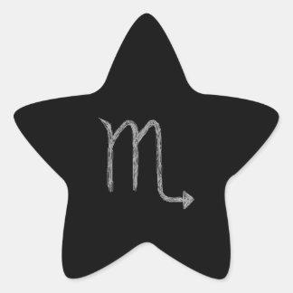 Scorpio. Zodiac Astrology Sign. Black. Star Sticker