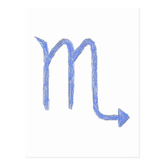 Scorpio Zodiac Astrology Sign Blue Post Cards