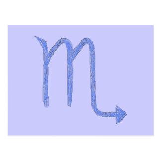 Scorpio Zodiac Astrology Sign Blue Postcards