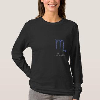 Scorpio. Zodiac Astrology Sign. Blue. T-Shirt