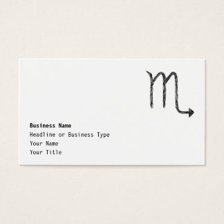 Scorpio. Zodiac Astrology Sign. Business Card