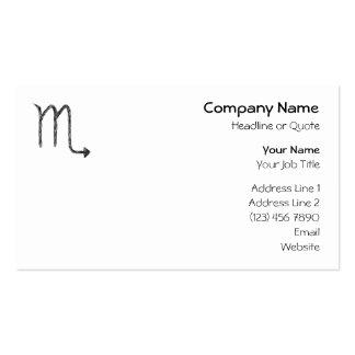 Scorpio. Zodiac Astrology Sign. Business Card Templates
