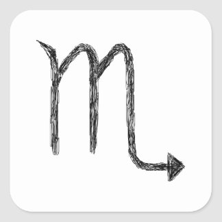 Scorpio. Zodiac Astrology Sign. Square Sticker
