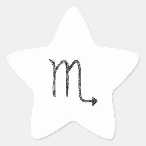 Scorpio. Zodiac Astrology Sign. Star Sticker