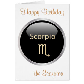 Scorpio zodiac astrology star sign birthday card