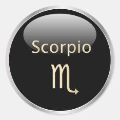 Scorpio Zodiac Astrology,  Star Sign Stickers at Zazzle