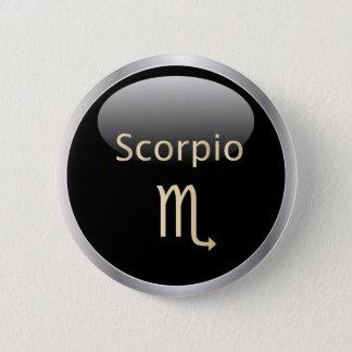 Scorpio zodiac astrology star sign, zodiac button