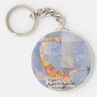 Scorpio Zodiac Basic Round Button Keychain