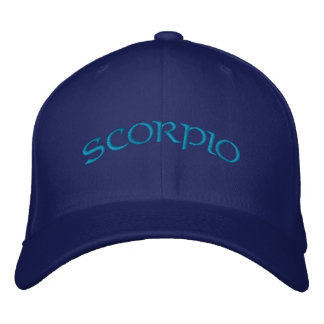 Scorpio Zodiac Blue/Aqua Cap