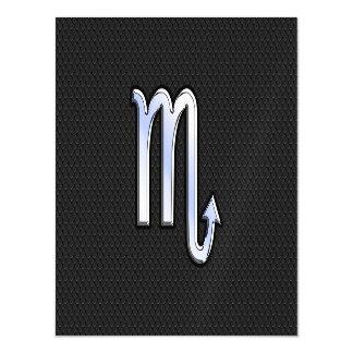 Scorpio Zodiac chrome like on black snake skin Magnetic Card
