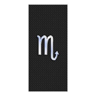 Scorpio Zodiac chrome like Sign black snake skin Rack Card