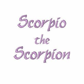 Scorpio Zodiac Embroidered Jogger Zip Hoodie