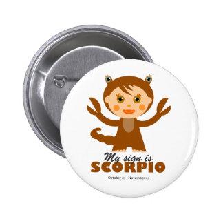 Scorpio Zodiac for Kids Pinback Button