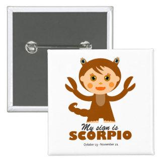 Scorpio Zodiac for Kids Pinback Buttons