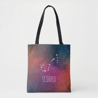 Scorpio Zodiac Galaxy Tote Bag