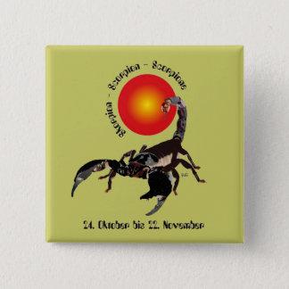 Scorpio zodiac of button