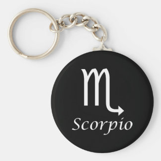 'Scorpio' Zodiac Sign Basic Round Button Keychain