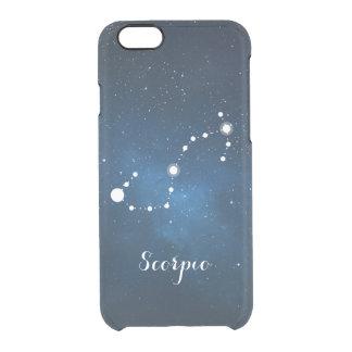 Scorpio Zodiac Sign Blue Nebula Clear iPhone 6/6S Case