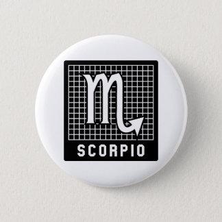 Scorpio Zodiac Sign Button Pin