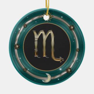 Scorpio Zodiac Sign Ceramic Ornament
