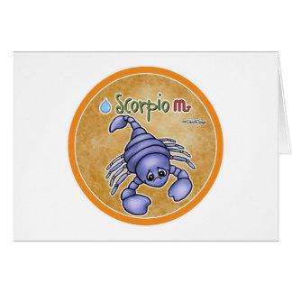 Scorpio zodiac sign - horoscope greeting card