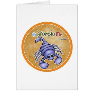 Scorpio zodiac sign - horoscope card