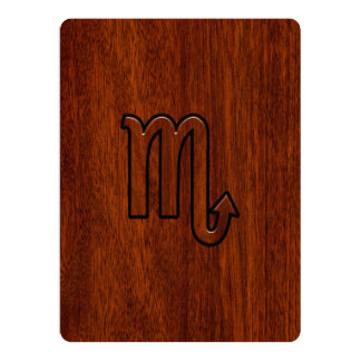 Scorpio Zodiac Sign in Mahogany Style Card