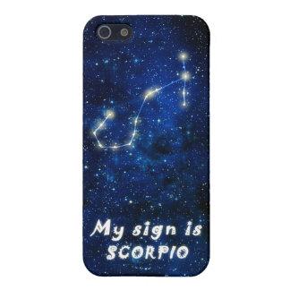 SCORPIO zodiac sign - iPhone 5 featured casev iPhone SE/5/5s Cover