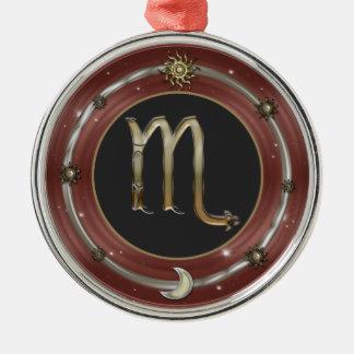 Scorpio Zodiac Sign Metal Ornament