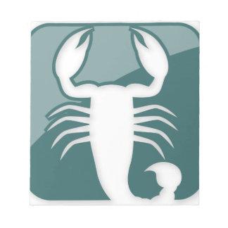 Scorpio Zodiac Sign Memo Pad