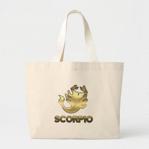 Scorpio zodiac sign - old gold edition bags