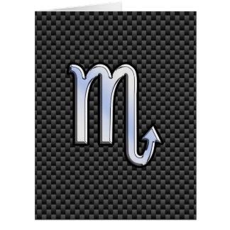 Scorpio Zodiac Sign on Carbon Fiber Decor Card
