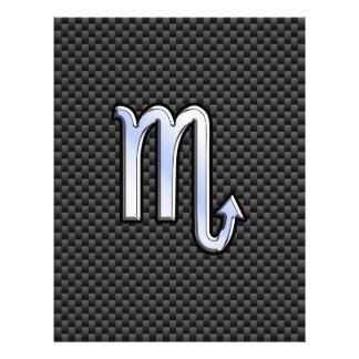 Scorpio Zodiac Sign on Carbon Fiber Print Flyer