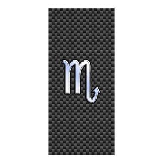 Scorpio Zodiac Sign on Carbon Fiber Print Rack Card