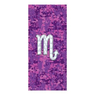 Scorpio Zodiac Sign on Pink Digital Camo Rack Card