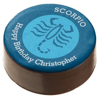 Scorpio Zodiac sign personalized birthday party Chocolate Covered Oreo