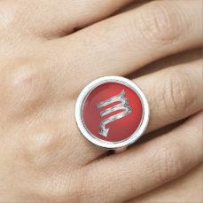 Scorpio Zodiac Sign Photo Ring