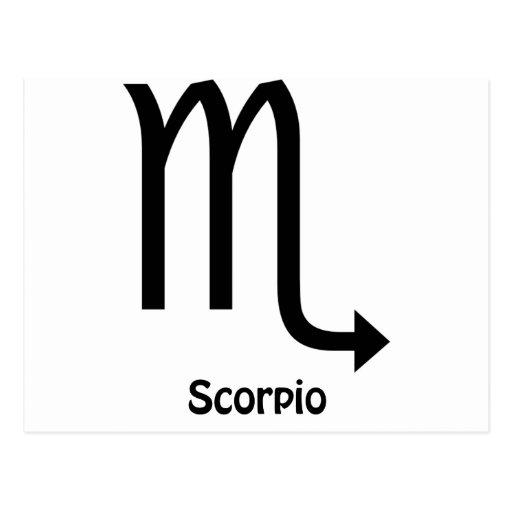 Scorpio Zodiac Sign Postcards